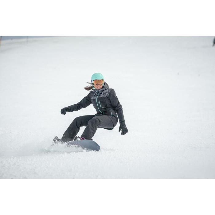 Snowboard-/ski-jas voor dames 500 camo zwart