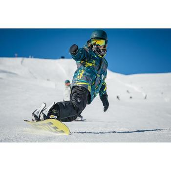 Jongenshoodie voor snowboarden en skiën SNB HDY opdruk zwart