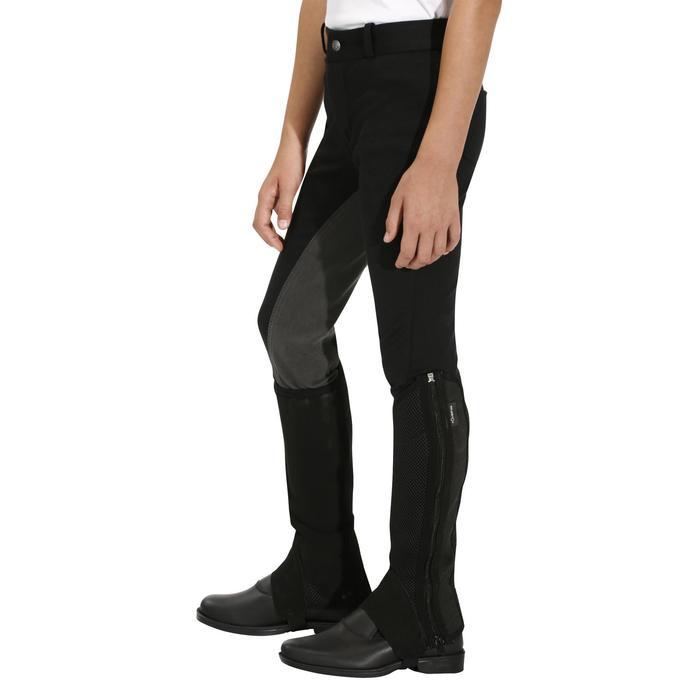Pantalon équitation enfant FULLSEAT noir et - 170475