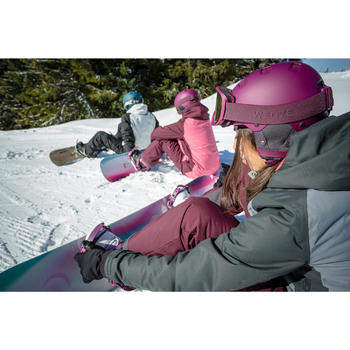 Chaqueta de snowboard y nieve, Wed'ze JKT 100, Impermeable, Mujer, Gris