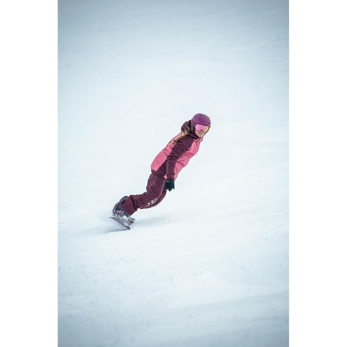 Snowboard- en ski-jas voor dames SNB JKT 100 bordeaux