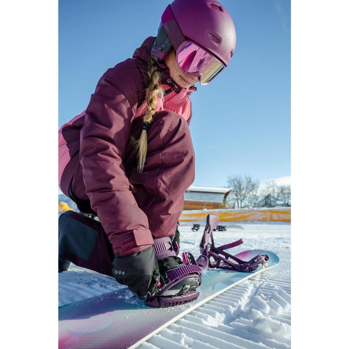 Fixations de snowboard piste / hors-piste, femme Serenity 100 violettes