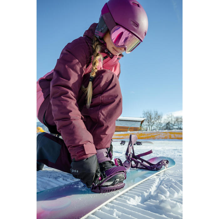 Snowboard broek dames - skibroek SNB PA 100 bordeauxrood - Wed'ze