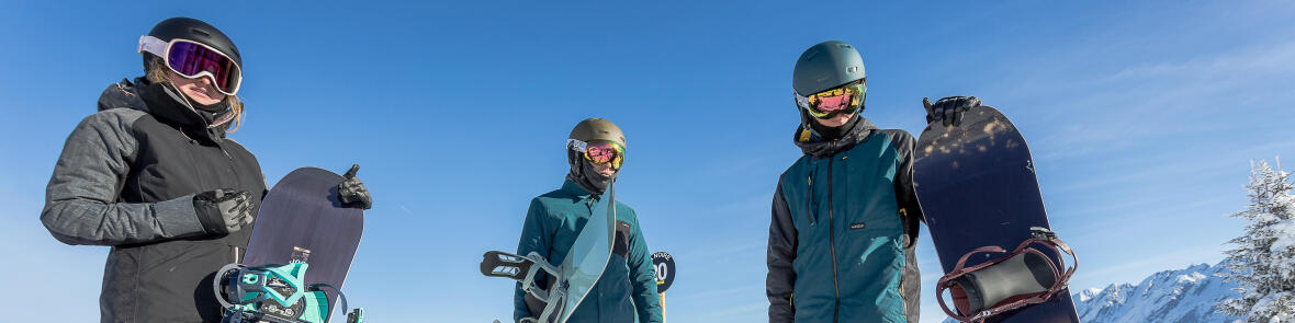 Snowboarders rocking the mountain