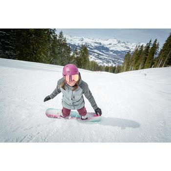 Pantalón de Snowboard y Nieve, Impermeable, Wed'ze SNB 100, Mujer, Burdeos