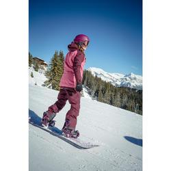 Chaqueta de snowboard y nieve, Wed'ze JKT 100, Impermeable, Mujer, Burdeos
