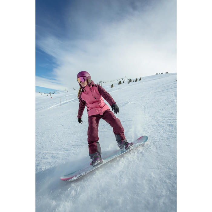 Pantalon de snowboard et de ski femme SNB PA 100 Bordeau