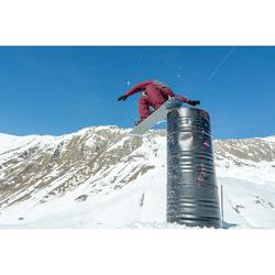男款單/雙板滑雪3合1外套SNB JKT 500 PROTEC - 栗紅色
