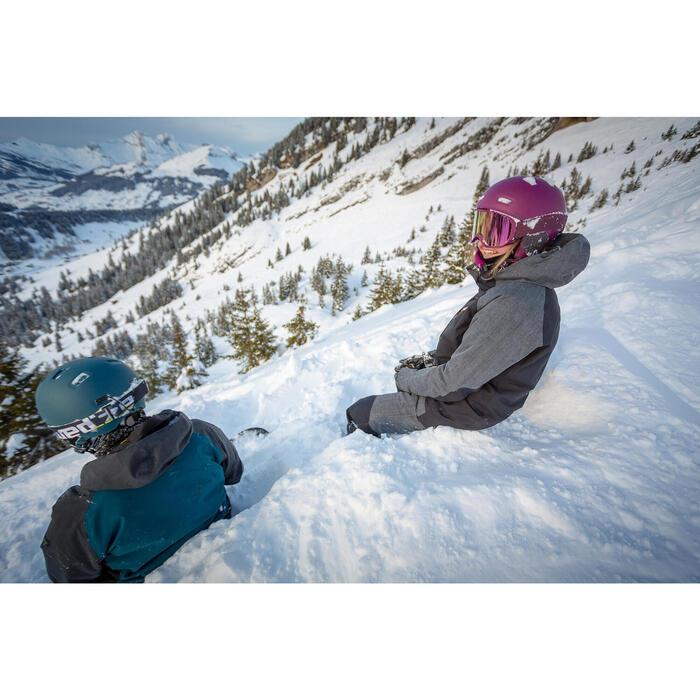 Ski-snowboardhelm voor volwassenen en kinderen H-FS 300 paars