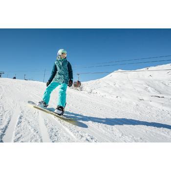 Snowboardjacke Skijacke SNB 500 Mädchen blau und türkis