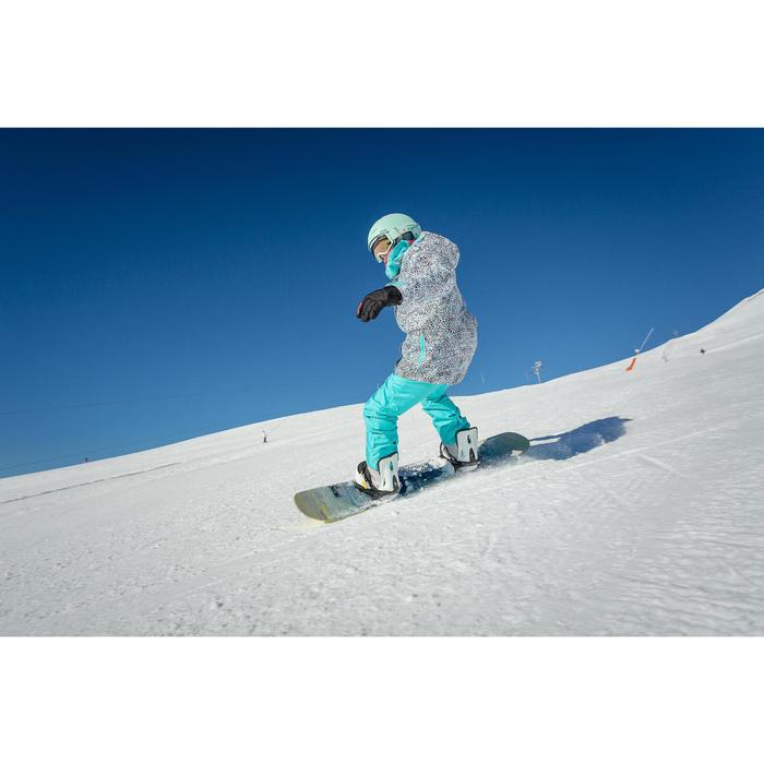 Snowboardbindingen voor kinderen Faky 300 zwart/wit/geel