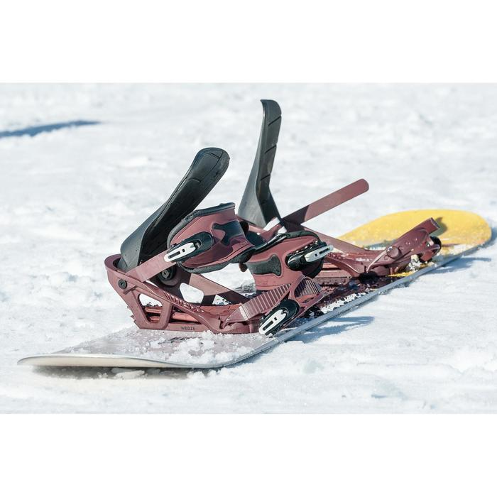 Snowboardbindung Freestyle Endzone 500 Erwachsene bordeaux