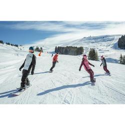 Snowboard- en skibroek voor dames SNB PA 100 bordeauxrood