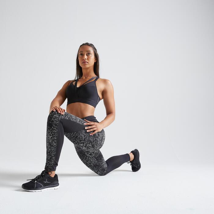 女款有氧健身訓練運動內衣520-黑色