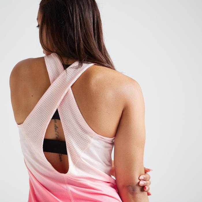 Débardeur fitness cardio training femme rose 500