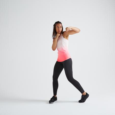 Camisole entraînement cardio femme rose 500