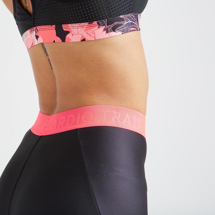 Legging fitness cardio training femme noir imprimé