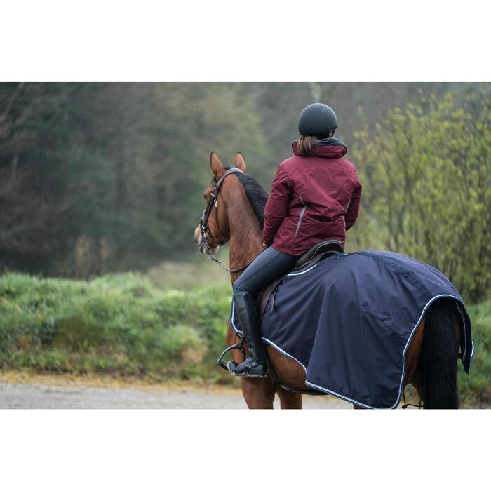 Manta riñonera de equitación con caballo 500 3 en 1 azul marino