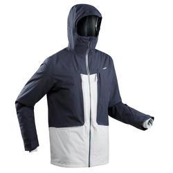 男款自由式滑雪外套FR 500 - 灰色