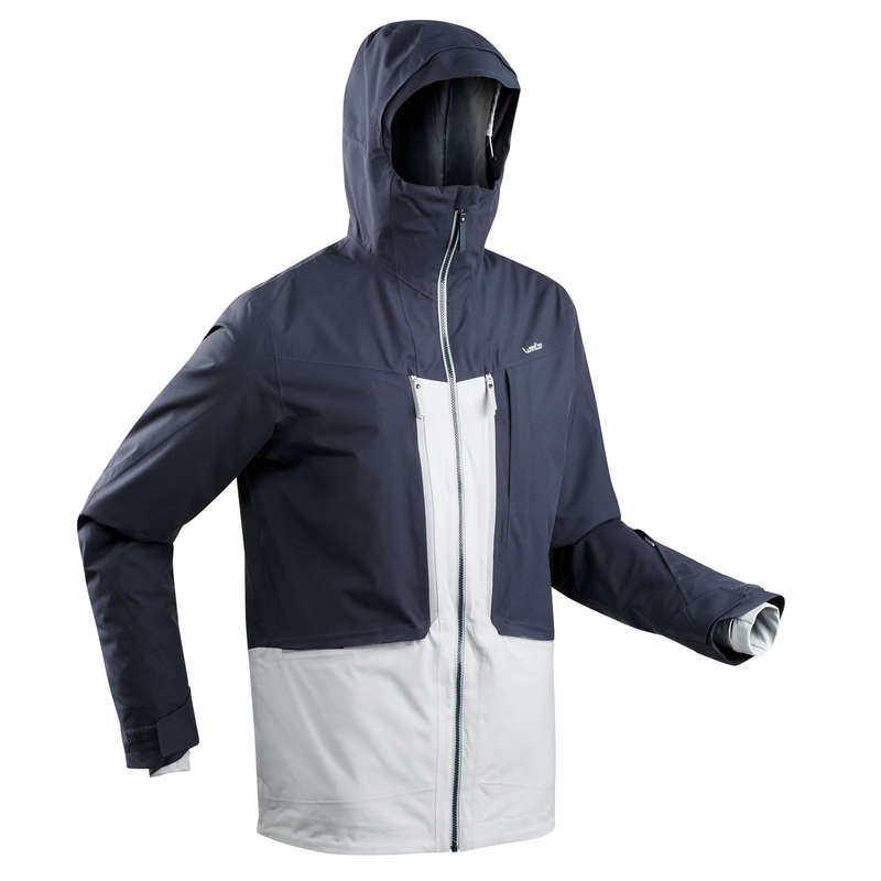 MAN'S FREERIDE SKIING CLOTHING Skiing - M SKI JACKET FR500 - Grey WEDZE - Ski Wear