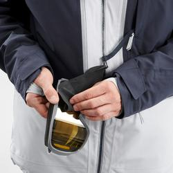Skijacke Freeride 500 Herren grau