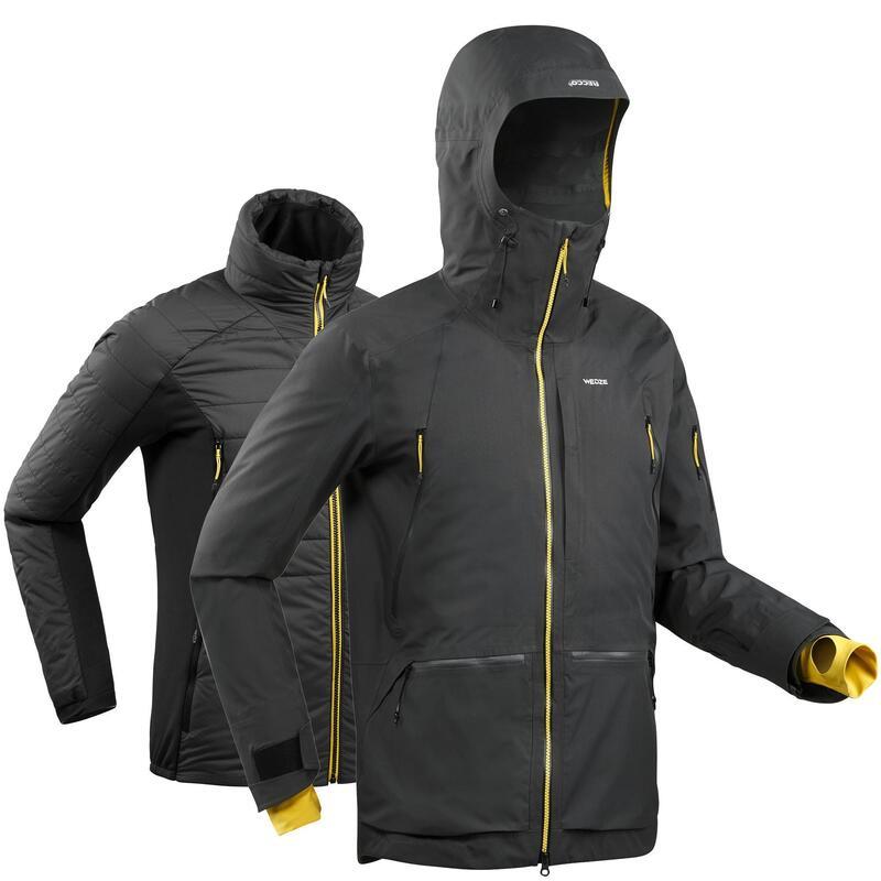 Pánská freeridová bunda SFR900 3v1 šedá