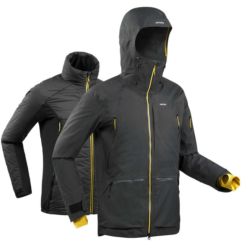 MAN'S FREERIDE SKIING CLOTHING - M Jkt SFR 900 - Grey WEDZE
