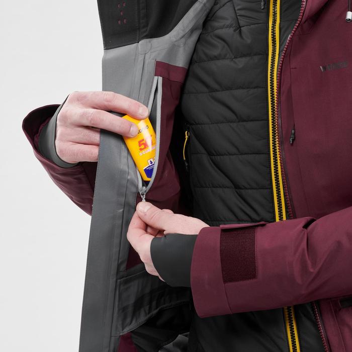 Ski-jas voor heren Freeride FR 900 bordeaux