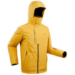 男款自由式滑雪外套FR 100 - 赭石色