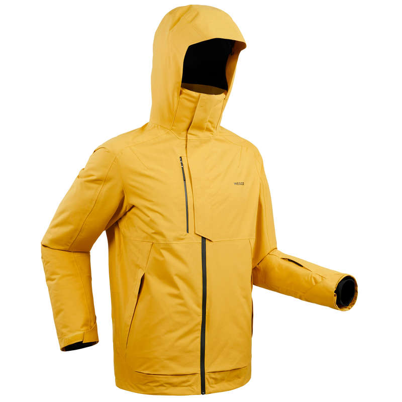 MAN'S FREERIDE SKIING CLOTHING Ski Wear - M SKI JACKET FR 100 - OCHRE WEDZE - Ski Wear