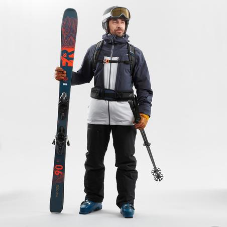 Manteau de ski tout-terrain homme JKT SKI FR500 H Gris
