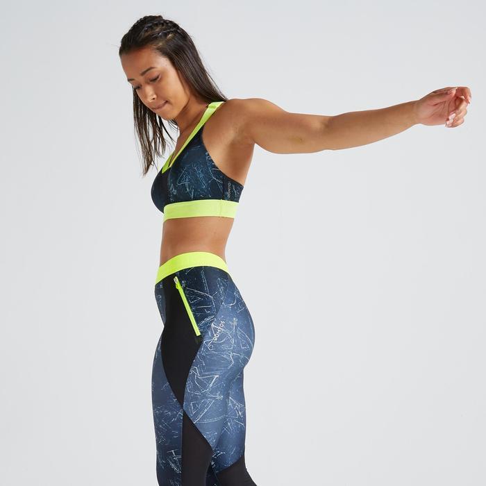 Sportbeha voor cardiofitness 500 print groen