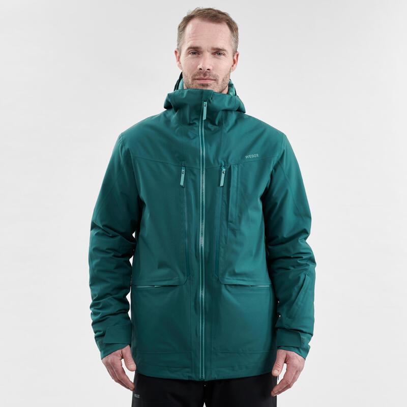 abrigo Chaqueta esquí y nieve wed'ze FR500 Hombre Verde