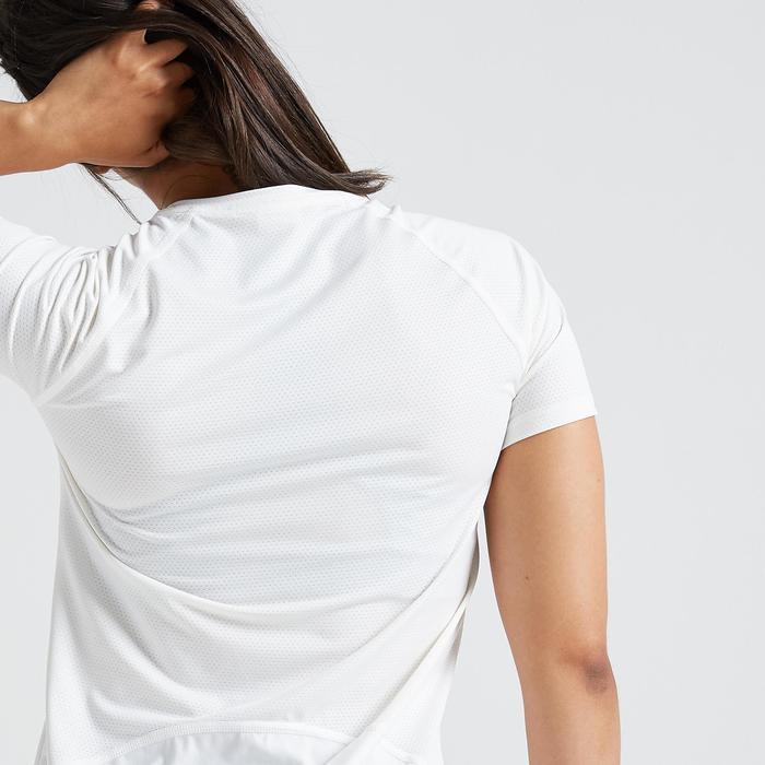 Fitness shirt 500 voor dames, wit