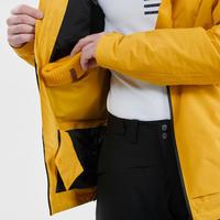 Manteau de ski tout-terrain homme JKT SKI FR100 H Ocre