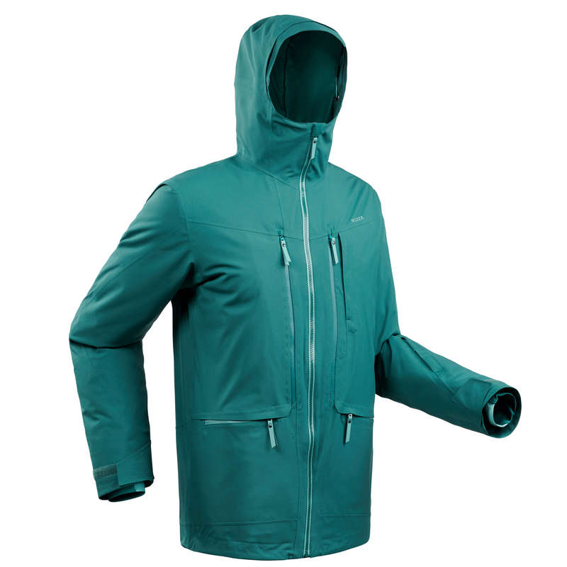 MAN'S FREERIDE SKIING CLOTHING Ski Wear - M SKI JACKET FR500 - Green WEDZE - Ski Wear