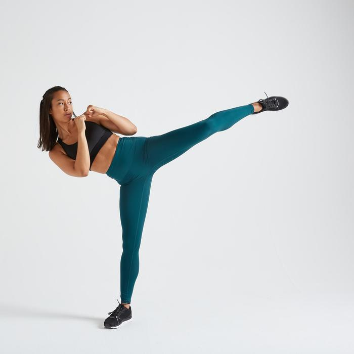 Legging fitness cardio training femme bleu 500