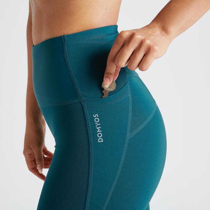 Legging voor cardiofitness dames 500 blauw
