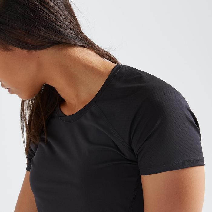 Fitness shirt 500 voor dames, zwart