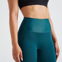 Mallas Legings Cardio Fitness Domyos 500 FTI efecto vientre plano mujer verde