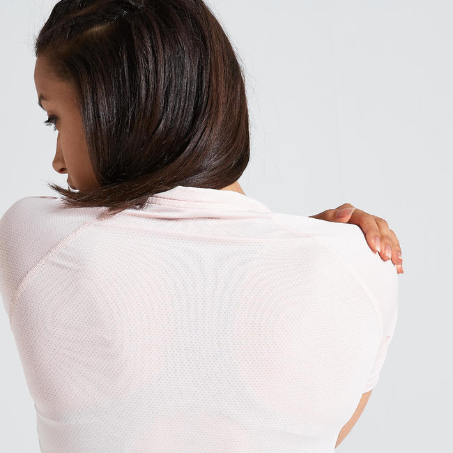 500 Women's Fitness Cardio Training T-Shirt - Pale Pink