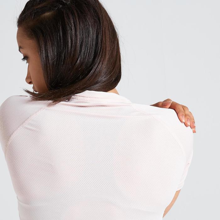Fitness shirt 500 voor dames, lichtroze