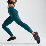 Women's High Waist Fitness Leggings - Blue