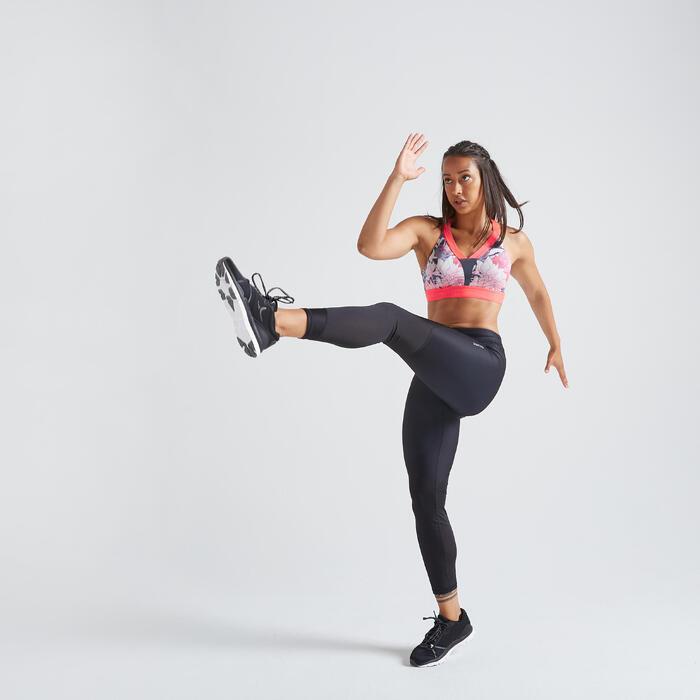 Fitness legging 500 voor dames, zwart