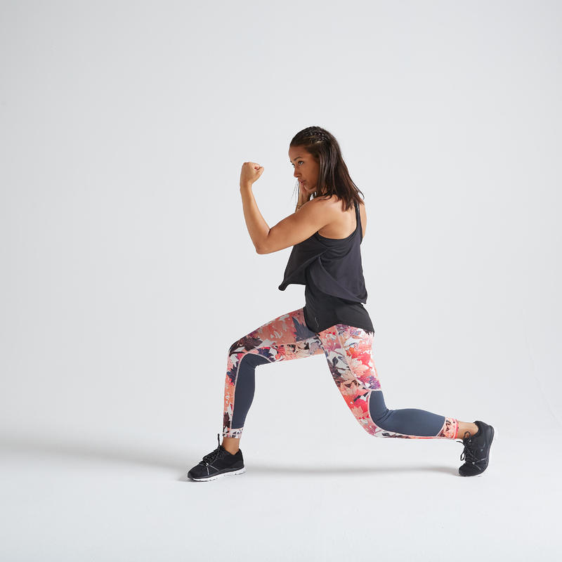 Women's Ultra-Light Fitness Leggings - Floral Print