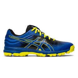 Zapatillas Hockey Hierba Asics Typhoon adulto azul y amarillo