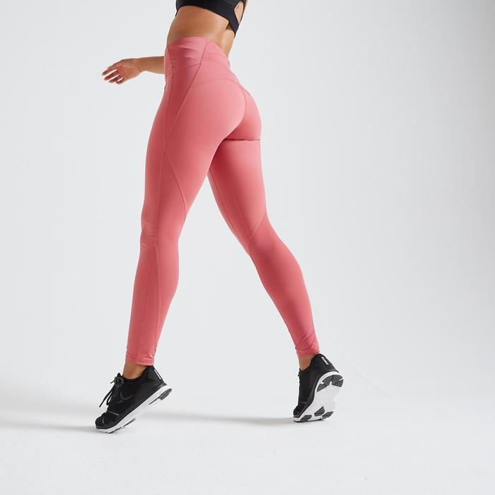 500 Women's Fitness Cardio Training Leggings - Dusty Pink