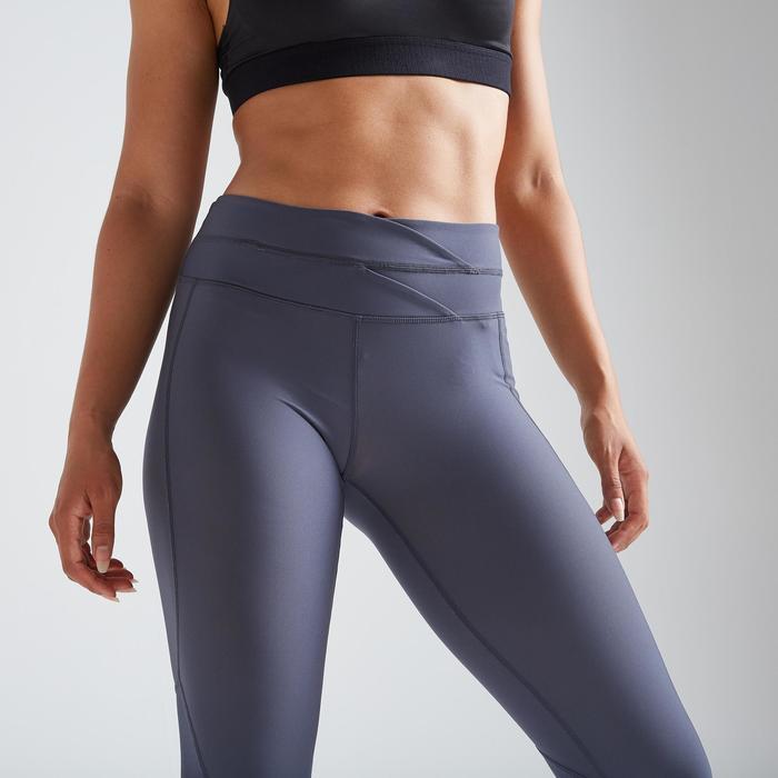 Fitness legging 500 voor dames, print