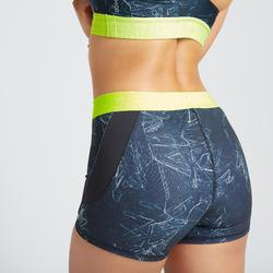 Short fitness cardio training femme imprimé 500