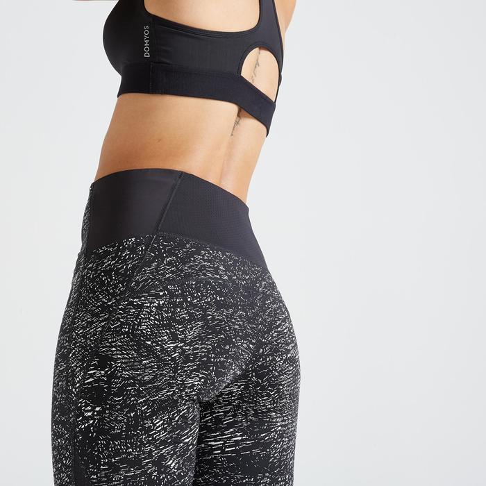 Leggings FTI 500A Fitness Cardio Damen schwarz-weiß bedruckt